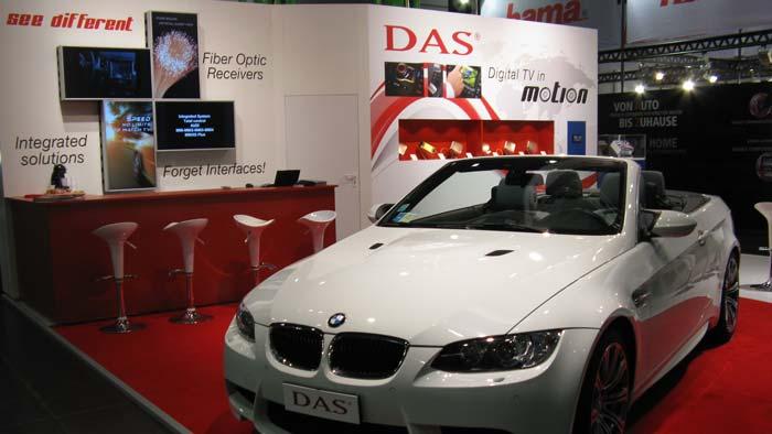 Esposizione Fiera Lipsia: Ricevitore digitale DAS a fibra ottica integrato su BMW M3